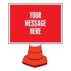 Create Your Own Reflective Cone Sign 600x450mm