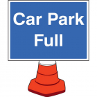 Car park full cone sign 600x450mm