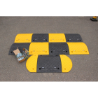 Speed Bump: 75mm inner segment black HxWxD: 75x500x480mm with fixings