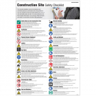 Construction site safety checklist poster