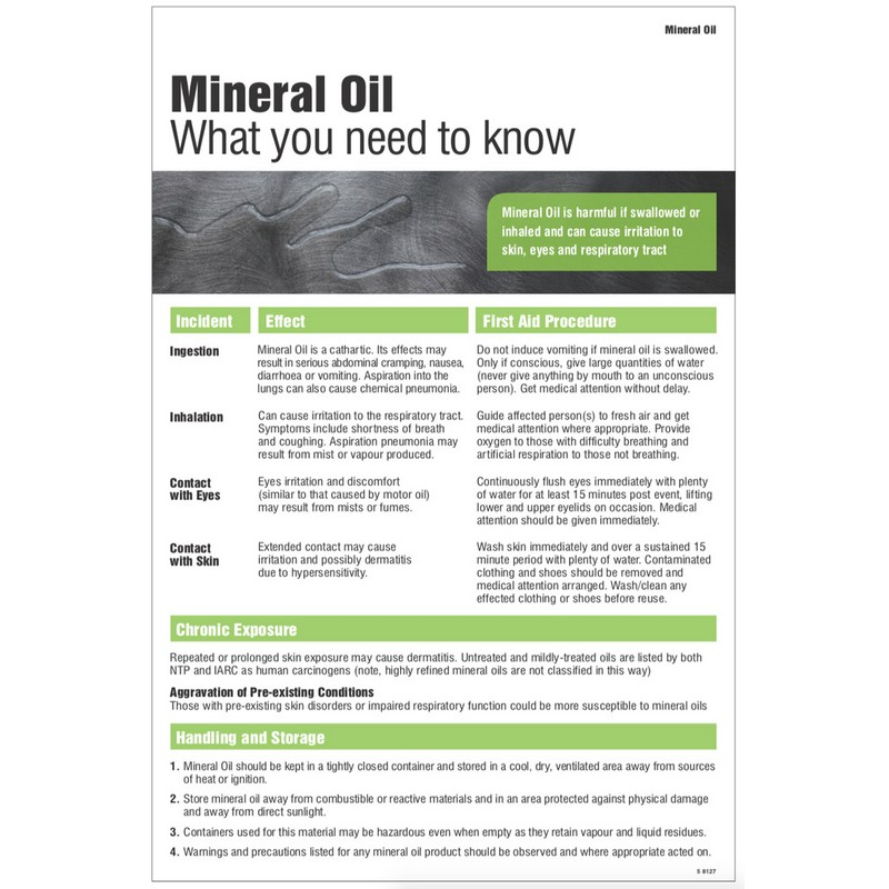 Mineral oil poster