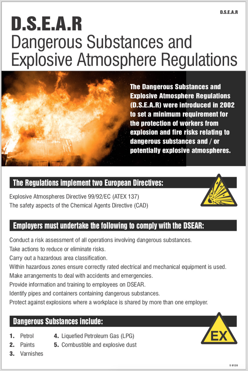 DSEAR poster (dangerous substances & explosive)
