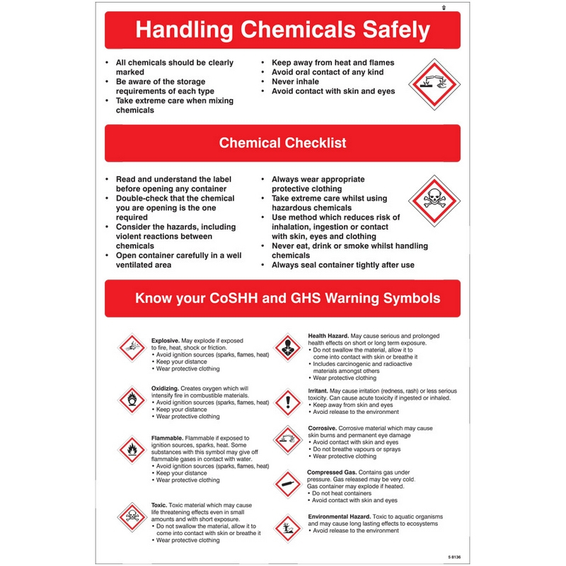 Handling chemicals safely poster