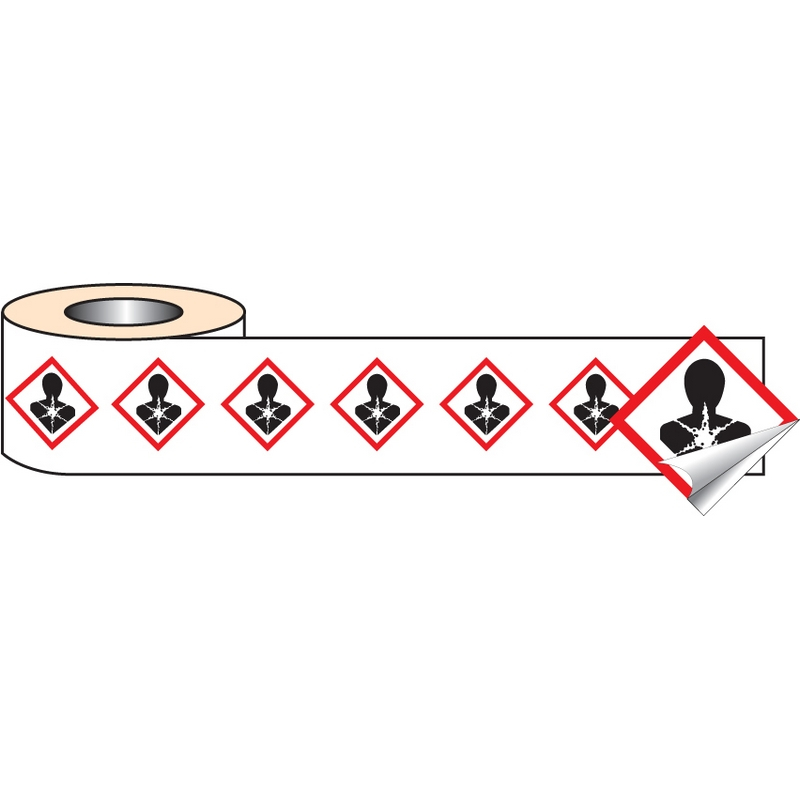250 S/A labels 50x50mm GHS Label - Health Hazard