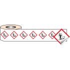 250 S/A labels 50x50mm GHS Label - Environmentally Hazardous