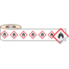 250 S/A labels 100x100mm GHS Label - Flammable