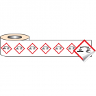 250 S/A labels 100x100mm GHS Label - Corrosive