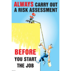 Always carry out a risk assessment 510x760mm synthetic paper