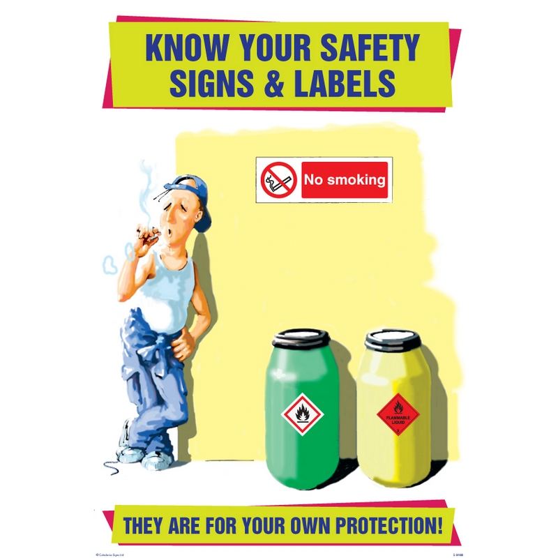 Know your safety signs & labels 510x760mm synthetic paper