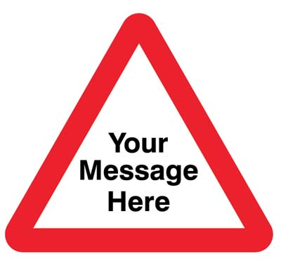Your message here 750mm triangle Class RA1 zintec