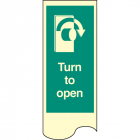 Door plate - turn to open right photo rp