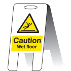 Caution wet floor (self standing folding sign)