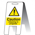 Caution cleaning in progress (self standing folding sign)