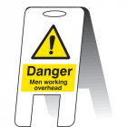 Men working overhead (self standing folding sign)