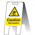 Caution trip hazard (self standing folding sign)