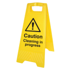 Caution cleaning in progress (free-standing floor sign)