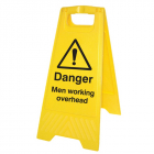 Danger men working overhead (free-standing floor sign)