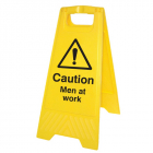 Caution men at work (free-standing floor sign)