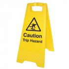 Caution trip hazard (free-standing floor sign)