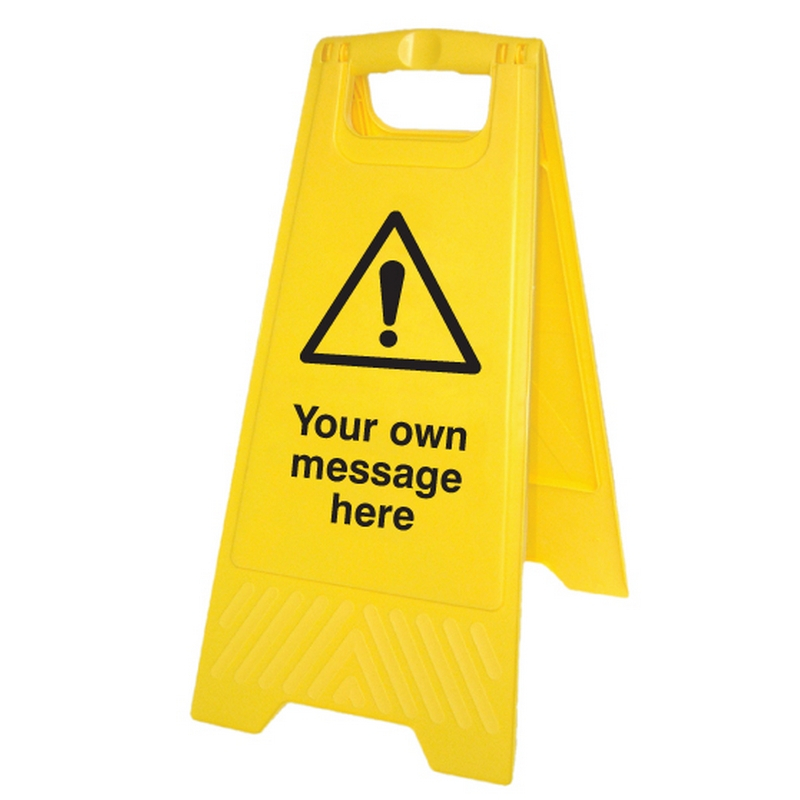 Your message here (free-standing floor sign)