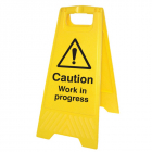 Caution work in progress (free-standing floor sign)