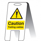 Caution trailing cables (self standing folding sign)