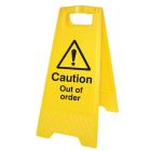 Caution out of order (free-standing floor sign)