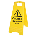 Caution hazardous area (free-standing floor sign)