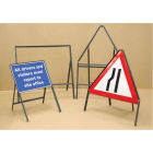Road sign frame double sided 600x450mm - 450mm legs