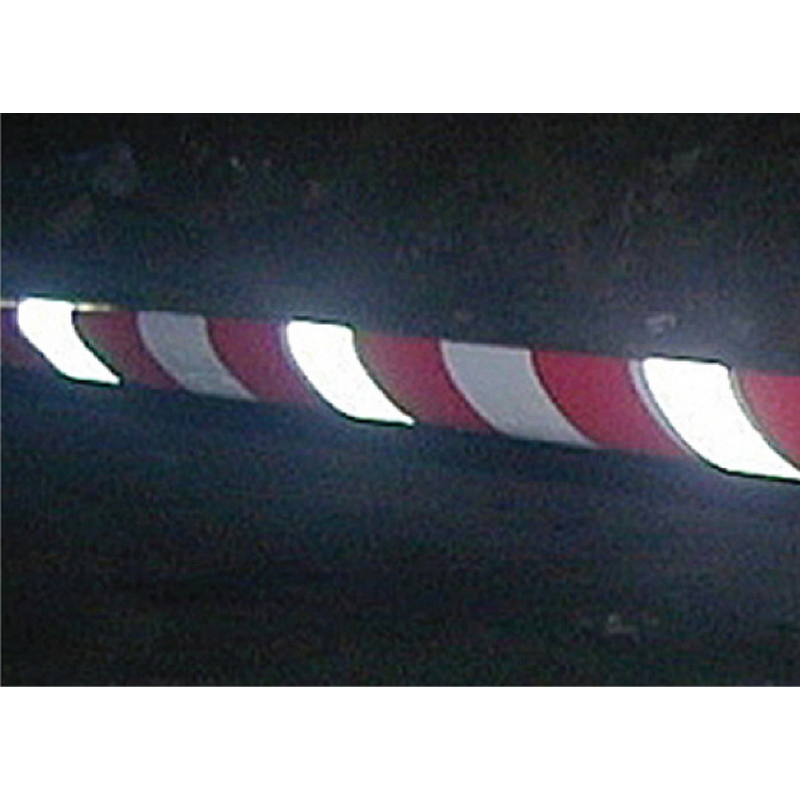 Red & white non-adhesive reflective barrier tape 75mm x 250m