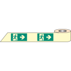 Man arrow right photoluminescent tape 10mx80mm
