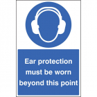 Ear protection must be worn floor graphic 400x600mm