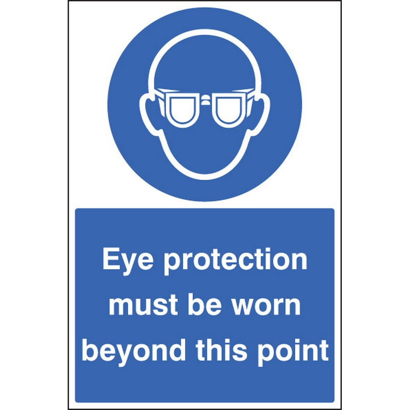 Eye protection must be worn floor graphic 400x600mm