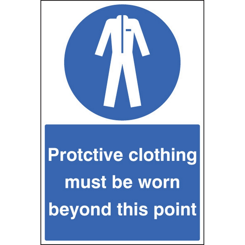 Protective clothing must be worn floor graphic 400x600mm