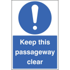 Keep this passageway clear floor graphic 400x600mm