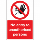 No entry to unauthorised persons floor graphic 400x600mm