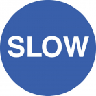 Slow floor graphic 400mm dia