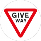 Stop give way floor graphic 400mm dia