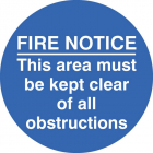 Fire notice this area etc... floor graphic 400mm dia