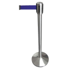 Retractable post mounted barrier (blue)