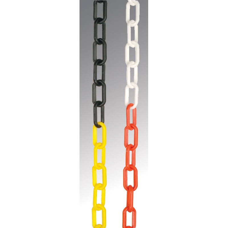 Chain 6mm black & yellow 10m length polyethylene