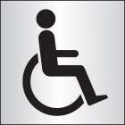Disabled WC 140x140mm aluminium