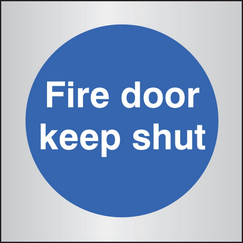 Fire door keep shut 70x70mm aluminium