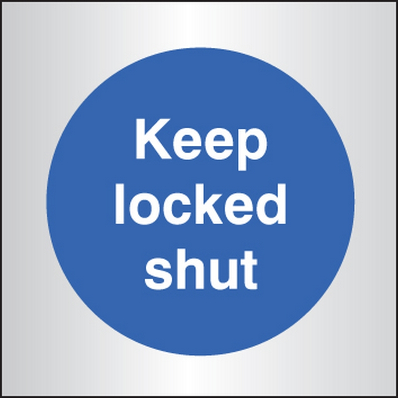 Keep locked shut 70x70mm aluminium