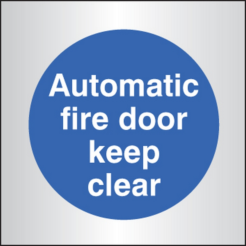 Auto fire door keep clear 70x70mm aluminium