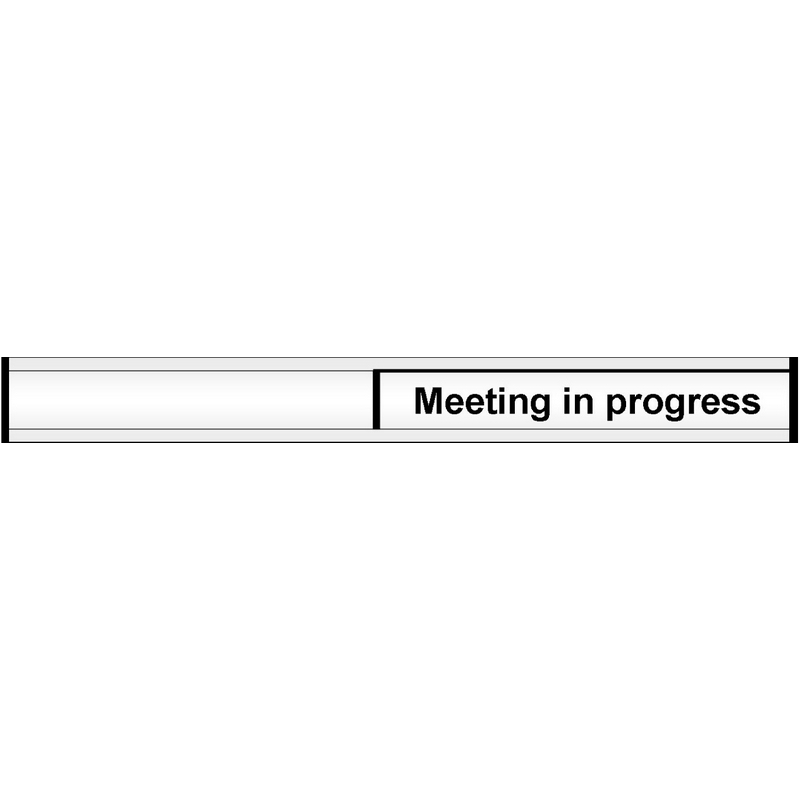 Meeting in progress door slider