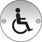 Disabled symbol 76mm dia aluminium sign
