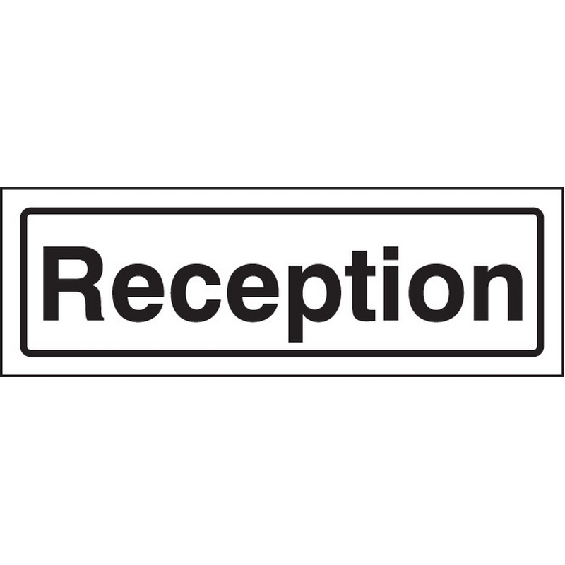 Reception visual impact sign