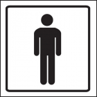 Gents symbol visual impact sign