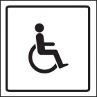 Disabled symbol visual impact sign